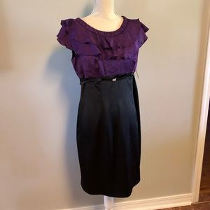Petite Dress - 12P - Purple and Black - NWT
